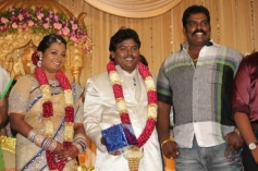 Besant Nagar Ravi at Black Pandi Wedding Reception Photos