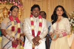 Nivetha at Actor Black Pandi Wedding Reception Photos