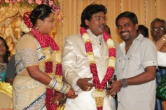 Velmurugan at Actor Black Pandi Wedding Reception Photos