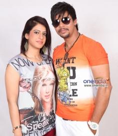 Ahana and Sunil Raj in Kannada Movie Jaggi