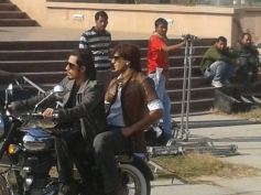 Ali Zafar and Ranveer Singh on the sets of Kill Dil film