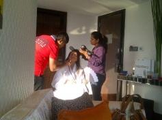 Ameesha Patel on the sets of film Desi Magic