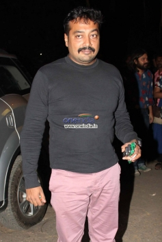 Anurag Kashyap arrives at the special screening of film The Wolf of Wall Street