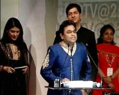 AR Rahman adressing media during a special event at the Rashtrapati Bhavan Auditorium