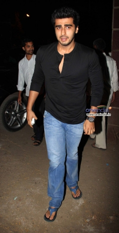 Arjun Kapoor arrives at the special screening of film The Wolf of Wall Street