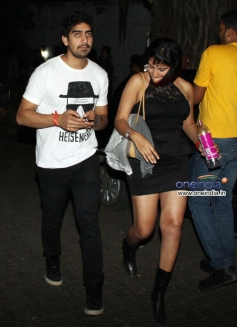 Ayan Mukherji and Aarti Shetty snapped at Olive