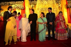 Bachchan family snapped at a wedding event