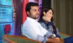Biryani film lead stars Karthi and Mandy Takhar attends a press meet at Cochin
