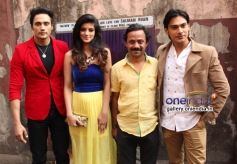 Bollywood actors Zubair Khan, Anjali Arora, filmmaker Muazzam Bag and actor Shresth Kumar