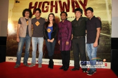 Celebs during the trailer launch of film Highway