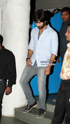 Shahid Kapoor snapped outside Olive