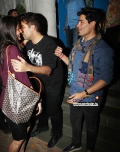 Karan Johar and Manish Malhotra snapped outside Olive