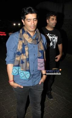 Manish Malhotra and Karan Johar snapped at Olive