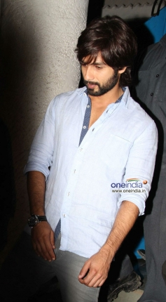 Shahid Kapoor snapped while leaving Olive