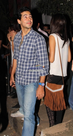 Dino Morea spotted outside the Olive restaurant