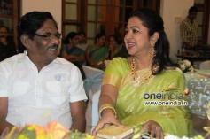 Radhika and P.Bharathiraja at Shraddha Ashwin Raghav Reception