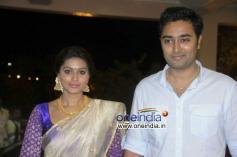 Sneha and Prasanna at Shraddha Ashwin Raghav Reception