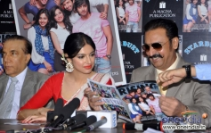 Divya Khosla Kumar and Gulshan Grover at the unveiling of The Rising Star Magazine latest issue