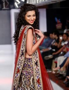 Hamsa Nandini walks the ramp at the Hyderabad International Fashion Week 2013 Day 04