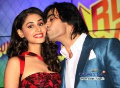 Hasleen Kaur kissed by Shiv Darshan during the music launch of film Karle Pyaar Karle