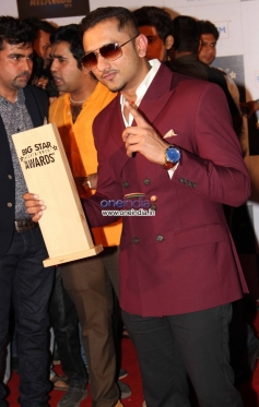 Honey Singh at the Big Star Entertainment Awards 2013