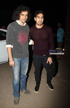 Imtiaz Ali and Ayan Mukerji arrives at the special screening of film The Wolf of Wall Street
