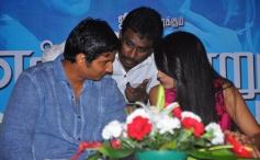 Jiiva and Trisha at the Endrendrum Punnagai film success meet