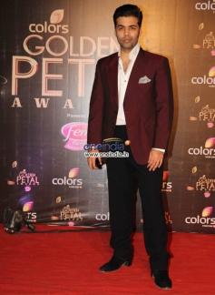 Karan Johar at Colors Tv 3rd Golden Petal Awards 2013