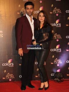 Karan Johar and Preity Zinta at Colors Tv 3rd Golden Petal Awards 2013
