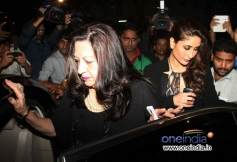 Kareena Kapoor with her mother Babitha snapped while leaving after Christmas celebrations