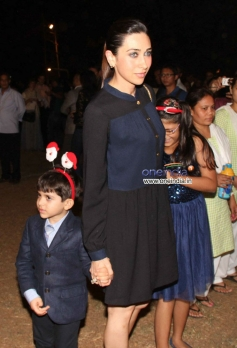 Karisma Kapoor snapped during the Christmas celebrations