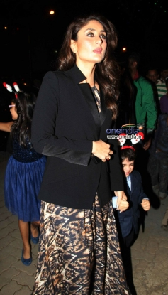 Karisma Kapoor son Kiaan with his cute aunt Kareena Kapoor snapped during the Christmas celebrations