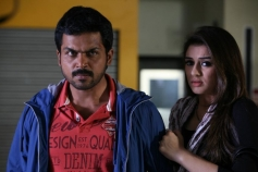 Karthi and Hansika Motwani still from film Biriyani