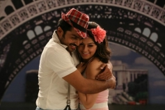 Karthi and Hansika still from film Biriyani