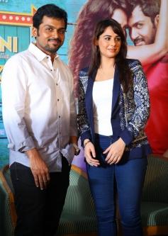 Karthi and Mandy Takhar during the Biryani film press meet at Cochin