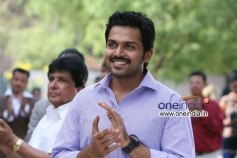 Karthi still from film Biriyani