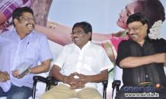 KS Ravikumar, Bharathiraja and Bhagyaraj at Saravana Poigai movie audio launch