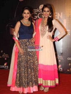 Madhuri Dixit and Huma Qureshi at Colors Tv 3rd Golden Petal Awards 2013