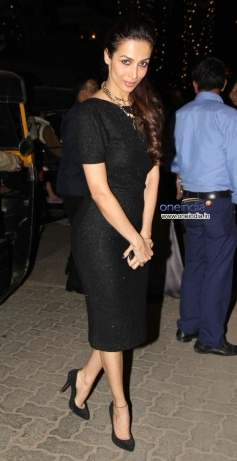 Malaika Arora Khan clicked during the Christmas celebrations