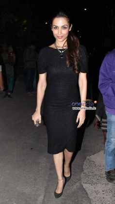 Malaika Arora Khan snapped during the Christmas celebrations