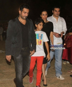 Malaika Arora Khan with her husband and Son snapped during the Christmas celebrations