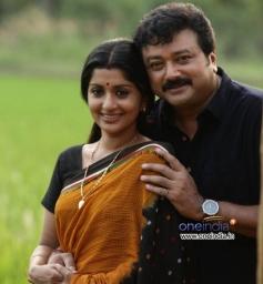 Meera Jasmine and Jayaram in Malayalam Movie Onnum Mindathe