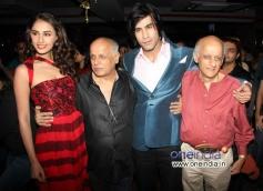 Mukesh and Mahesh Bhatt arrives during the music launch of film Karle Pyaar Karle