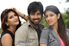 Neha Saxena, Neeraj Shah and Akila in Kannada Movie Q