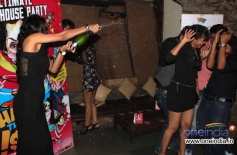 Poonam Pandey enjoys at the What The Fish film party