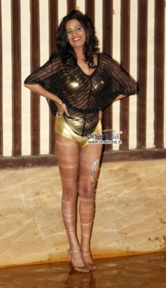 Poonam Pandey poses during the What The Fish film party