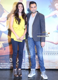 Preeti Desai and Abhay Deol at the trailer launch of film One By Two