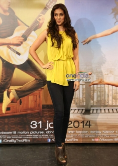 Preeti Desai at the trailer launch of film One By Two