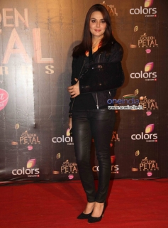 Preity Zinta at Colors Tv 3rd Golden Petal Awards 2013