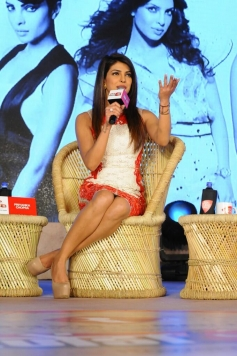 Priyanka Chopra addressing media at the Agenda Aaj Tak program